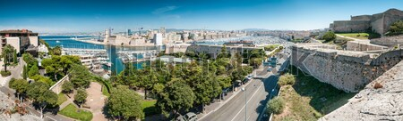 Great panoramic view of Marseille, France. Stock photo © kyolshin