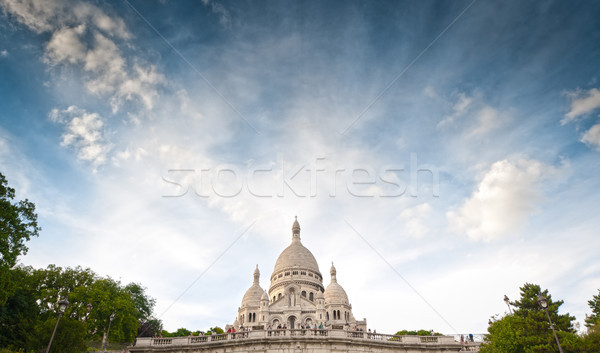 Wide view of Basilica of the Sacred Heart of Paris. Stock photo © kyolshin