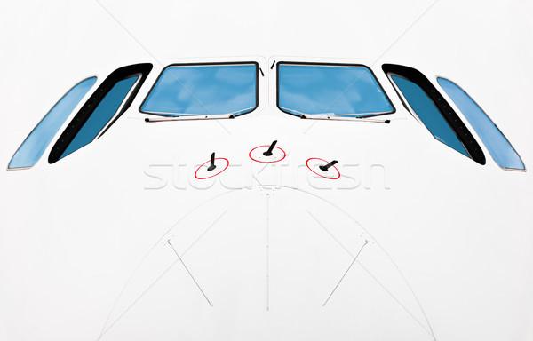 Nariz avião ver piloto Foto stock © kyolshin