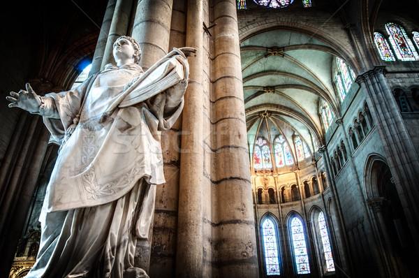 Stock fotó: Belső · öreg · katolikus · templom · Franciaország · Európa