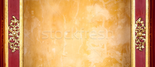 Geel pleisterwerk muur patroon frame decoratie Stockfoto © kyolshin