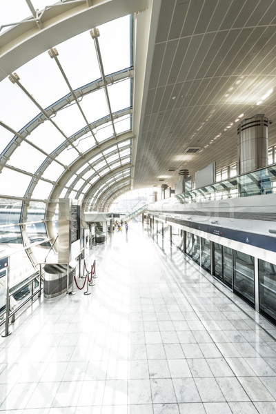 Modern undeground station filled with light. Stock photo © kyolshin