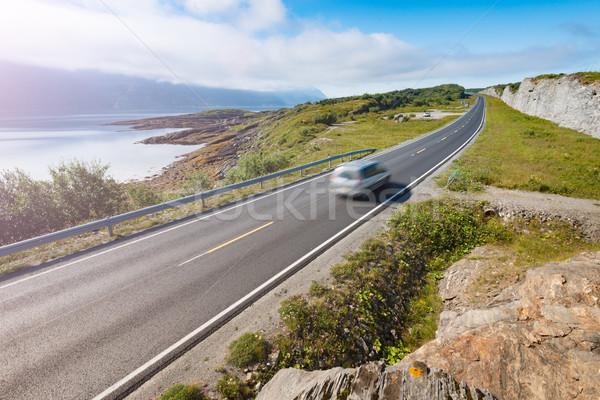 автомобилей гор Норвегия Европа Auto путешествия Сток-фото © kyolshin