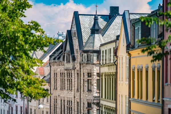Velho Noruega escandinávia europa ver Foto stock © kyolshin