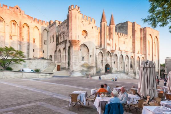 Avignon pope palace, France. Stock photo © kyolshin