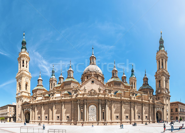 Basilica of Our Lady of Pillar in Spain, Europe. Stock photo © kyolshin