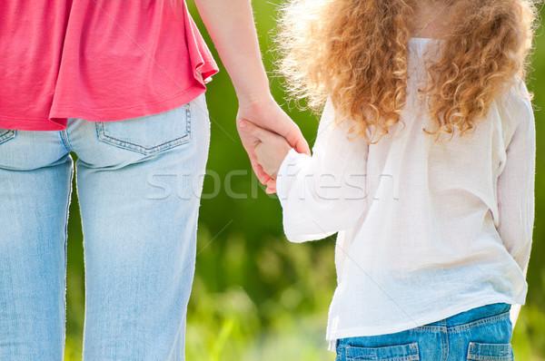 Matka córka strony stałego lata Zdjęcia stock © kyolshin