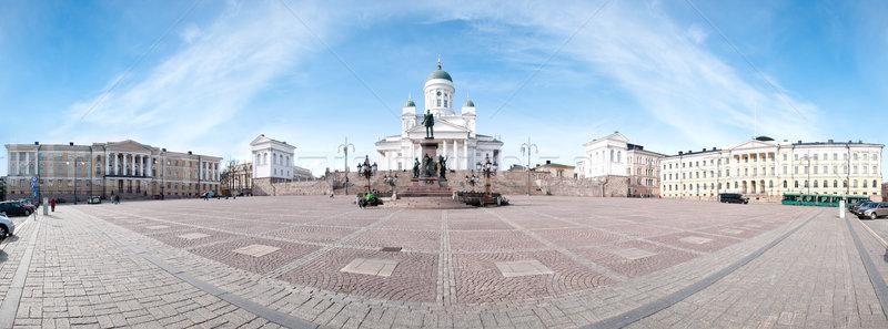 Stockfoto: Helsinki · kathedraal · vierkante · panorama · Blauw