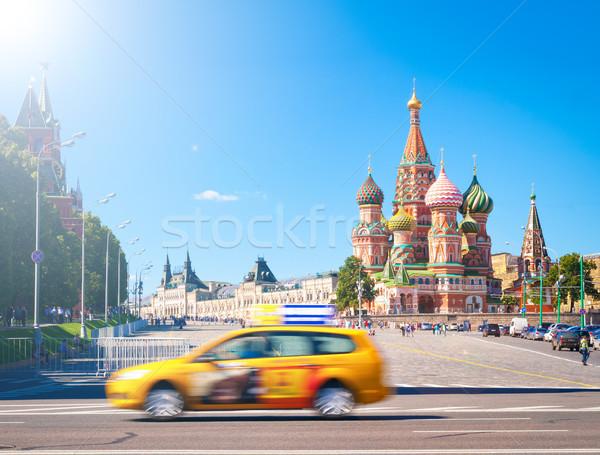 Stockfoto: Red · Square · Kremlin · St · Basil · Kathedraal · Moskou · Rusland · mooie