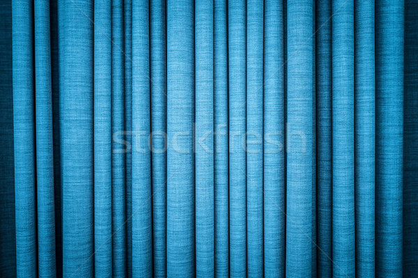 Blue curtain in folds. Textured background. Stock photo © kyolshin