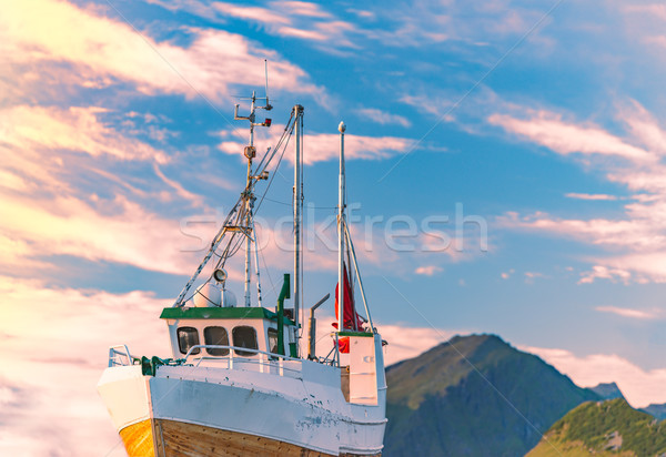 Ship at pier in Norway, Europe Stock photo © kyolshin