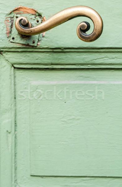 Deur behandelen fragment groene gouden mooie Stockfoto © kyolshin