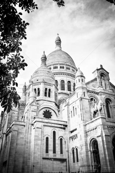 Basílica sagrado corazón París vista nublado Foto stock © kyolshin