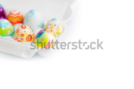 easter eggs in crate Stock photo © kyolshin
