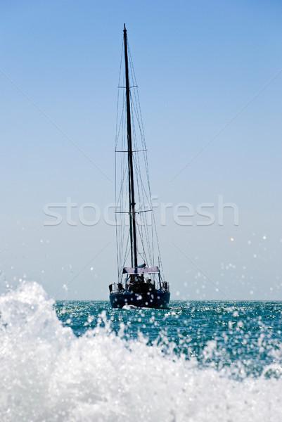 yacht drifting in the sea Stock photo © kyolshin