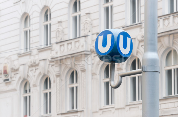 Public transport sign in Vienna, Austria Stock photo © kyolshin