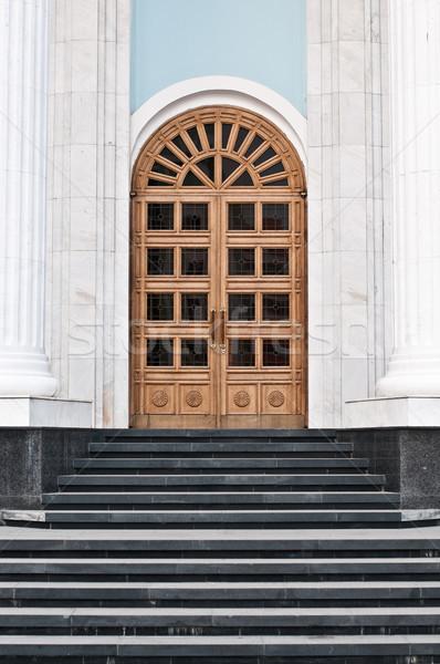 шаги ведущий двери большой дома Сток-фото © kyolshin