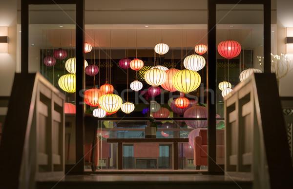Hotel recepcji Wietnam asia klatka schodowa Zdjęcia stock © kyolshin