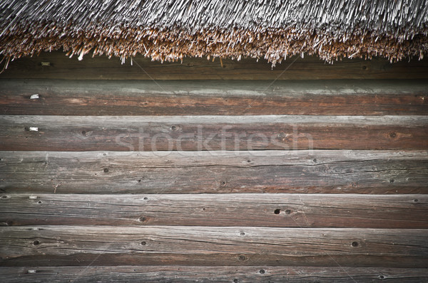 old building wooden wall Stock photo © kyolshin