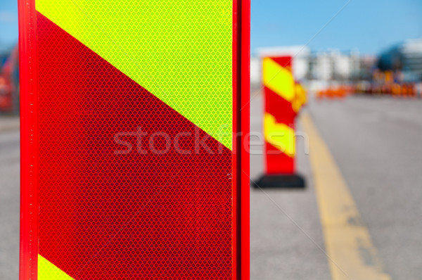 traffic reroute signs Stock photo © kyolshin