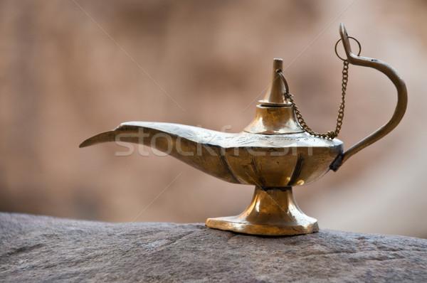 Starych arabski lampy stylu ziemi Jordania Zdjęcia stock © kyolshin