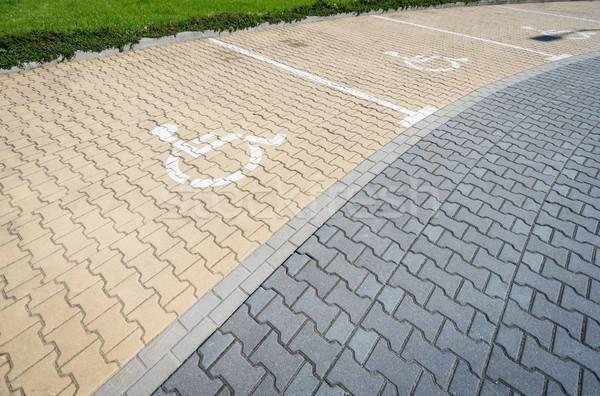 Parking space for disabled people. Stock photo © kyolshin