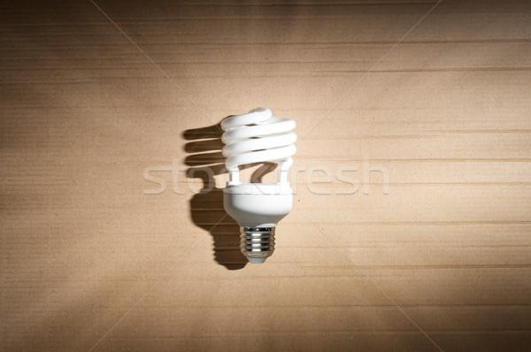 Fluorescente bianco forte ombra cartone Foto d'archivio © kyolshin