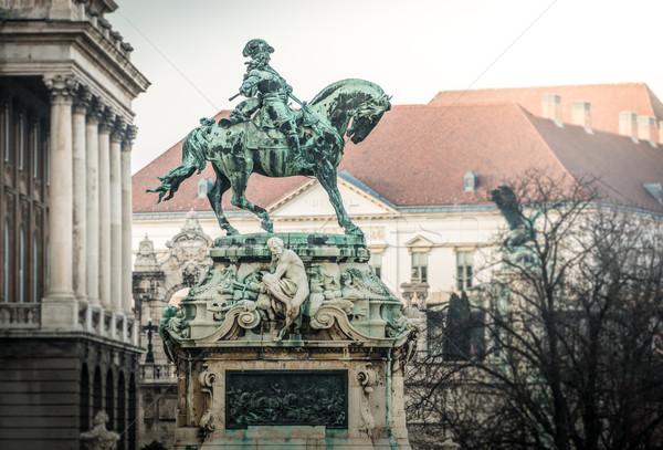 Eugene of Savoy's monument in Budapest. Stock photo © kyolshin