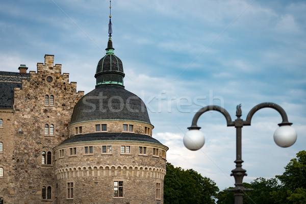 Velho medieval castelo Suécia escandinávia europa Foto stock © kyolshin