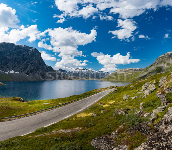 Road in mountains of Norway, Europe Stock photo © kyolshin