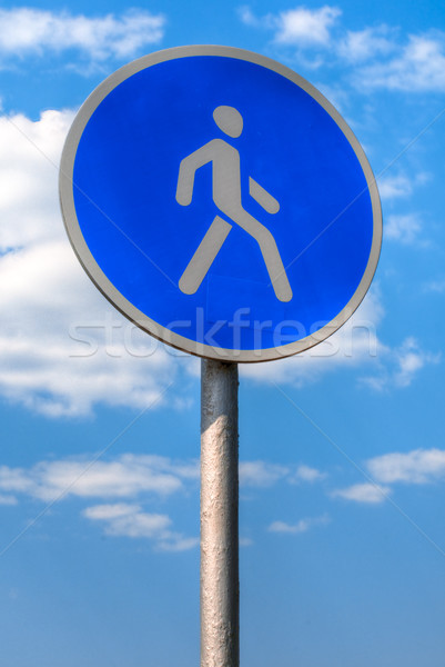 pedestrian sign Stock photo © kyolshin