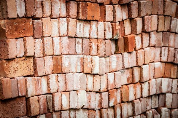 Muur nieuwe Rood bakstenen Stockfoto © kyolshin
