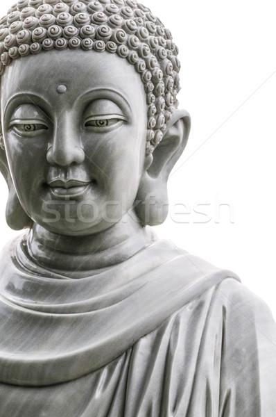 Buddha standbeeld geïsoleerd witte Stockfoto © kyolshin