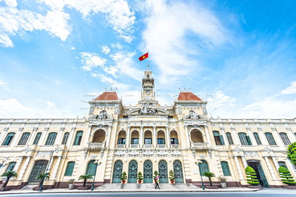 Beautiful Ho Chi Minh City Hall in Vietnam, Asia. Stock photo © kyolshin