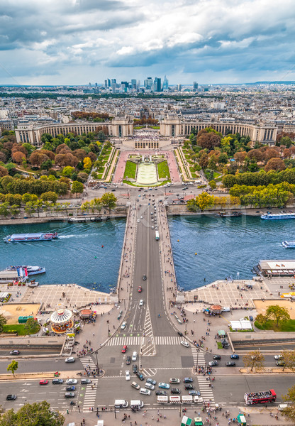 View of Paris from the Eiffel tower. Stock photo © kyolshin