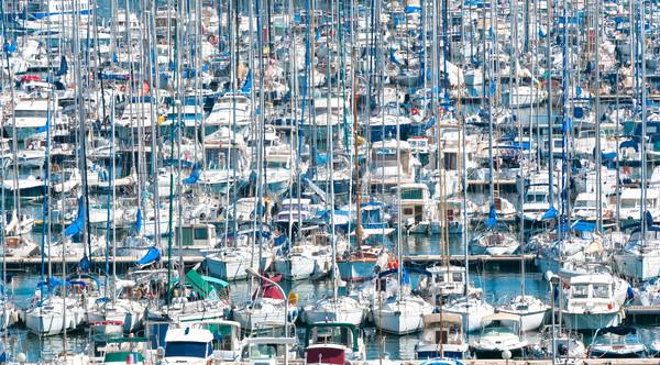 Ocupado porto barcos ver francês cidade Foto stock © kyolshin