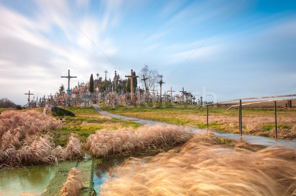 Hill of crosses near Siauliai, Lithuania, Europe. Stock photo © kyolshin