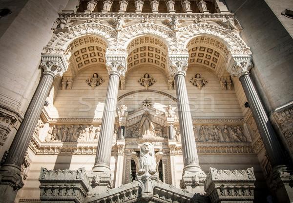 Basilica of Notre Dame de Fourviere, France. Stock photo © kyolshin