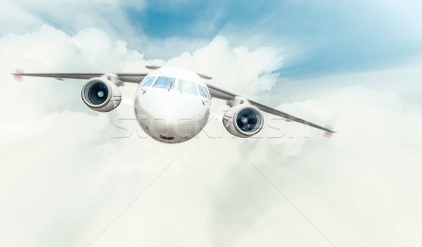плоскости Flying синий облачный небе кокпит Сток-фото © kyolshin