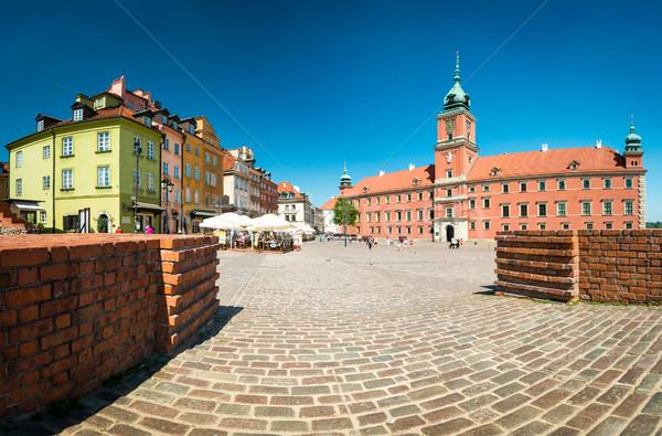 Kasteel vierkante Warschau Polen Europa beroemd Stockfoto © kyolshin