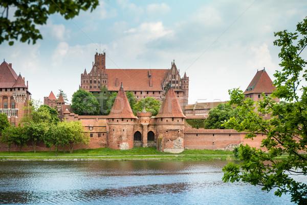 Malbork (Marienburg) Castle in Pomerania, Poland. Stock photo © kyolshin