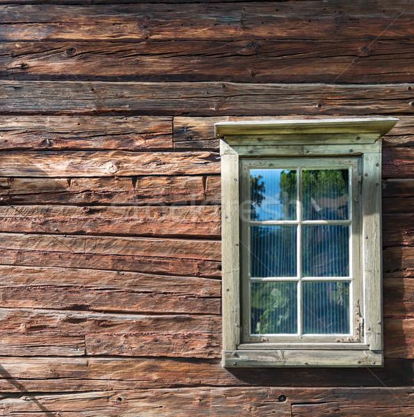 Old door in Skansen museum in Stockholm, Sweden. Stock photo © kyolshin