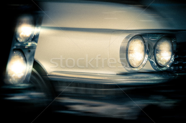 Headlights of a vintage cars. Stock photo © kyolshin
