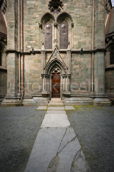 Eski katedral Norveç görmek Stok fotoğraf © kyolshin