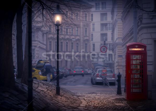 Noite Viena Áustria europa rua cena Foto stock © kyolshin