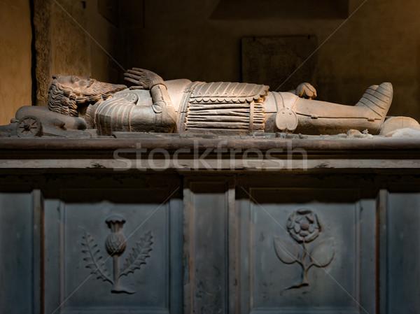 Samuel Cockburn's tomb in Turku Cathedral. Finland Stock photo © kyolshin