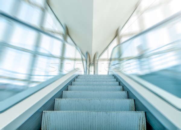 View of escalator in business centre in motion. Stock photo © kyolshin