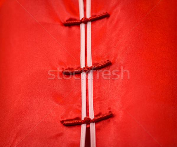 Detail of traditional vietnamese dress. Stock photo © kyolshin