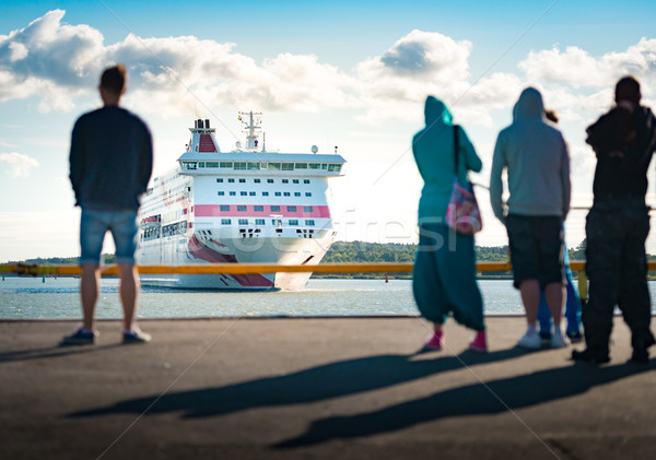 Ferry arriving in Turku, Finland Stock photo © kyolshin