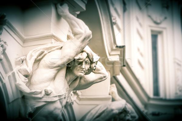 Posąg budynku Wiedeń Austria Europie podróży Zdjęcia stock © kyolshin